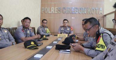 Polres Cirebon Kota dan jajaran ikuti Vicon Mabes Polri
