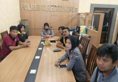 Humas Jajaran Polres Cirebon Kota Ikuti Vicon Div Humas Polri