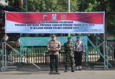 Apel Pengamanan Pelantikan Presiden dan Wakil Presiden terpilih periode tahun 2019 – 2024 di Wilkum Polres Cirebon Kota.