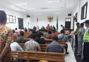 Bhabinkamtibmas Suranenggala Kulon   monitoring Pengamanan sidang gugatan Pilwu