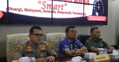 Polres Cirebon Kota Ikuti Vicon Kapolri ; Agenda Kamtibmas Ops Lilin 2019