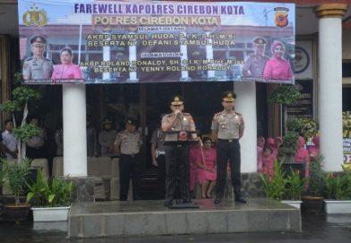 Upacara  Farewell dan Welcome Parade Sertijab Kapolres Cirebon Kota