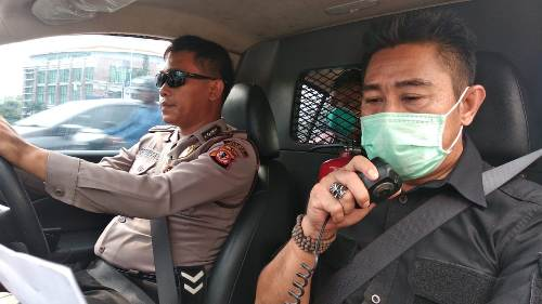 QR  Polsek Utrbar   Polres Ciko berikan Penyuluhan Pencegahan Virus Corona