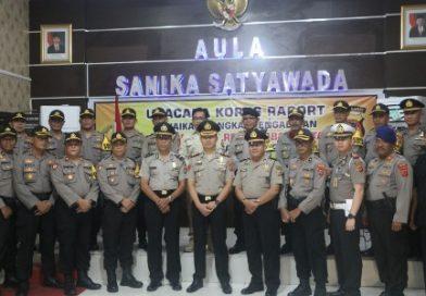 Kapolres Ciko Pimpin Upacara Korps Raport Kenaikan Pangkat Pengabdian