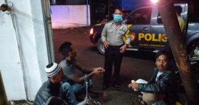 Patroli QR Polsek Lemah wungkuk Polres Ciko  Himbau warga Lakukan Social Distancing