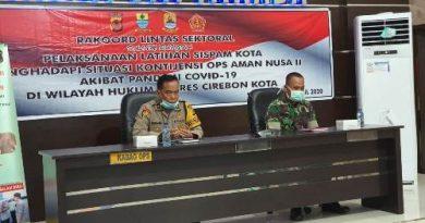 Polres Ciko Gelar Rakor Latihan sispam Kota Ops Aman Nusa II menghadapi Kontijensi  Akibat Virus Covid 19