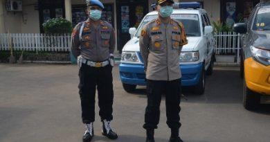 Polres Ciko Gelar Simulasi  Sispam Kota  situasi Kontijensi Ops Aman Nusa II Akibat Pandemi Covid 19