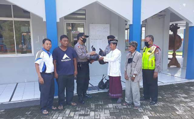 Polsek KPC Polres Ciko, Salurkan Paket Sembako Untuk Warga Kurang Mampu