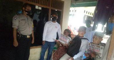 Bhabinkamtibmas Desa Kertasura Aiptu Sukisko Polsek Kapetakan Polres CIKO, Sambang Warga dan Monitoring Penyaluran BLT