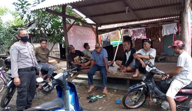 Bhabinkamtibmas Desa Luwung Mundu Polres Ciko, Aiptu Andi Junandi Sambangi Warga