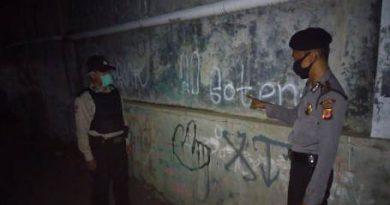 Polsek Gunung Jati Polres Ciko Gelar KRYD dan aksi vandalisme, Ciptakan Situasi Aman di masa Covid 19