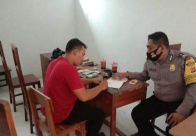Deteksi dini Covid 19, Brigadir Dodi Bhabinkamtibmas Kapetakan Polres Ciko Belanja Masalah