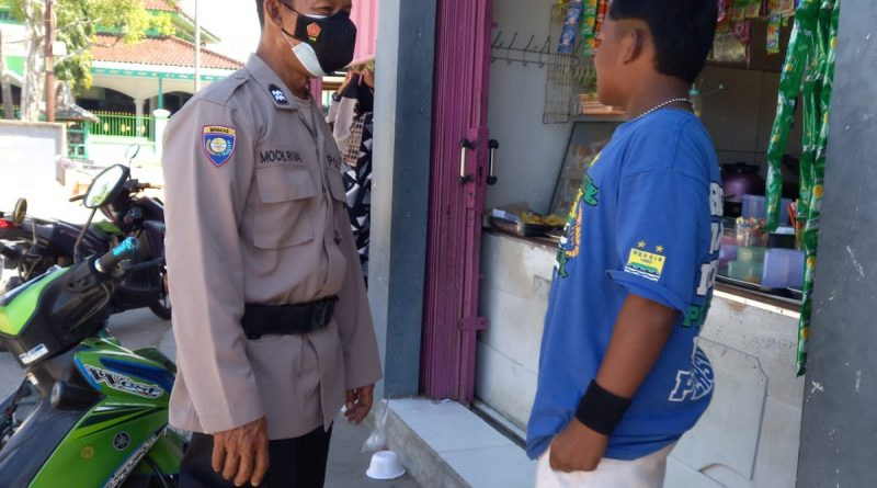 Polsek kapetakan Polres Ciko Himbau warga dalam PPKM Level 4 upaya Pendisiplinan masyarakat