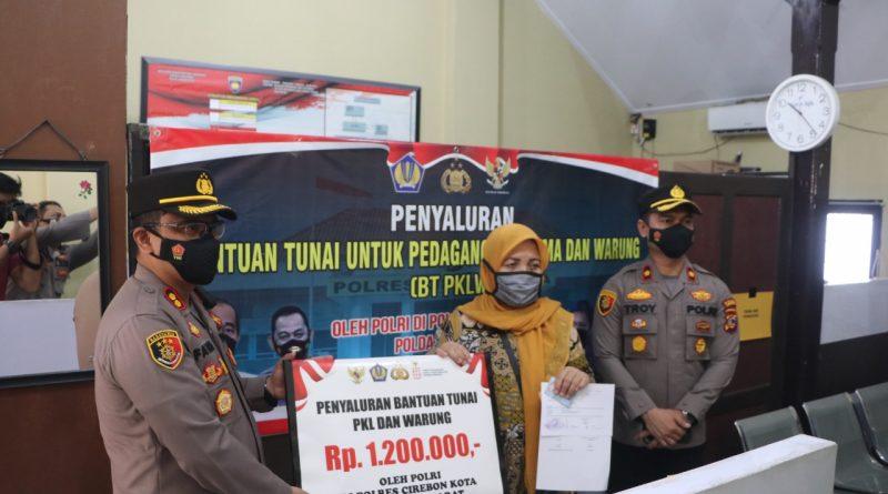 AKBP M. FAHRI SIREGAR : Saya jamin & pastikan Penyaluran Bantuan Tunai untuk Pedagang Kaki Lima dan Warung ( BT PKLW ) diterima yang berhak